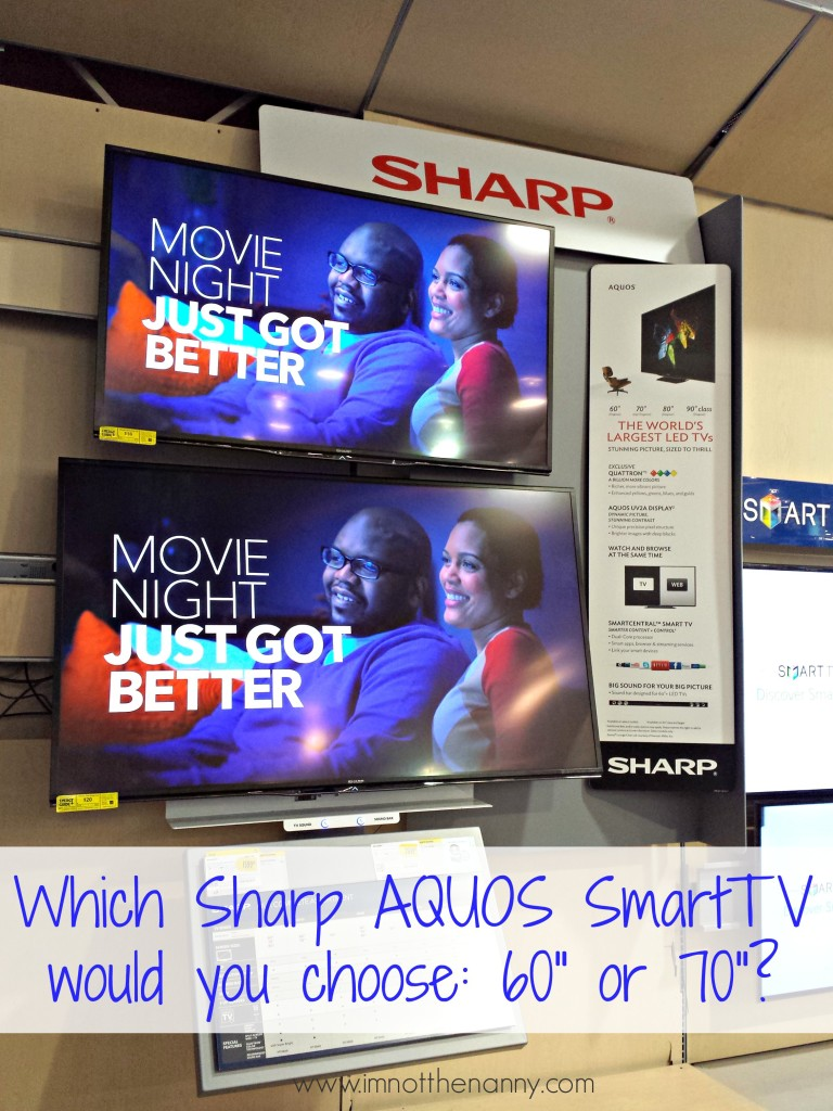 Sharp Aquos Smart TV Display at Best Buy- I'm Not the Nanny #OneBuyForAll #shop #cbias