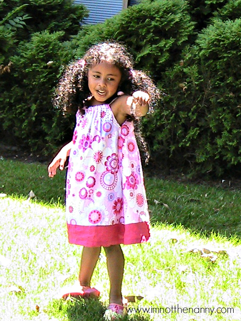 Sophia In Handmade Summer Dress- I'm Not the Nanny