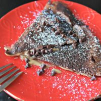 Whole Wheat Peanut Butter Chocolate Crepes