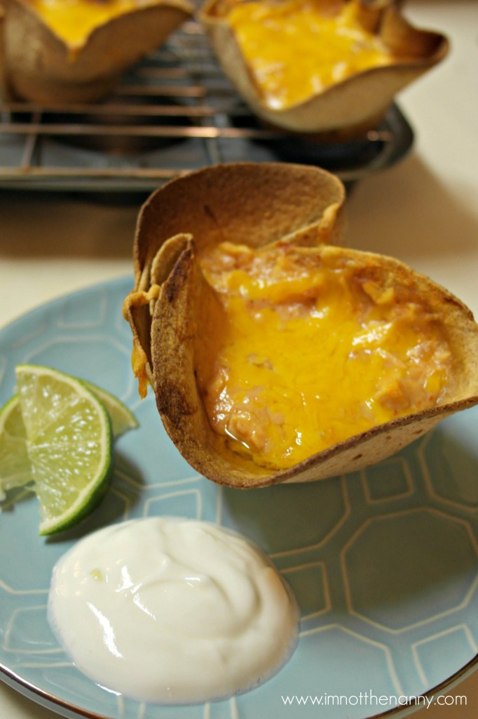 Cheesy Chicken Enchilada cups-I'm Not the Nanny
