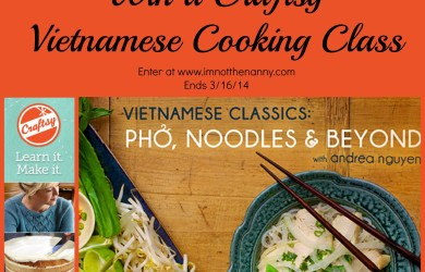 Vietnamese Cooking Class Giveaway-I'm Not the Nanny