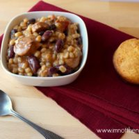 Cajun Red Beans & Sausage Barley Stew (Recipe)