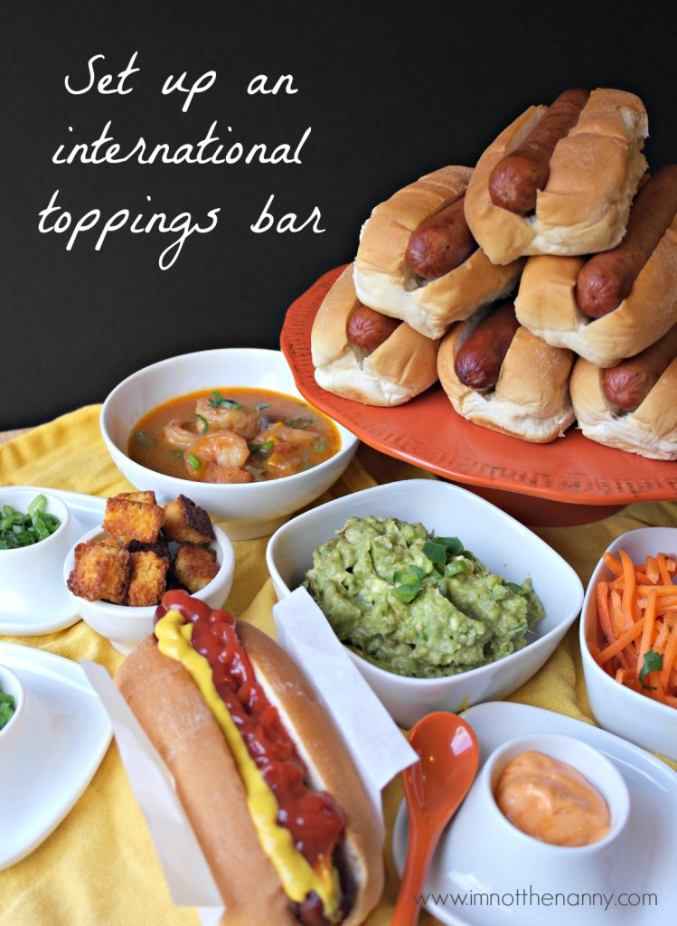 International Toppings Bar #StartYourGrill #CollectiveBias-I'm Not the Nanny