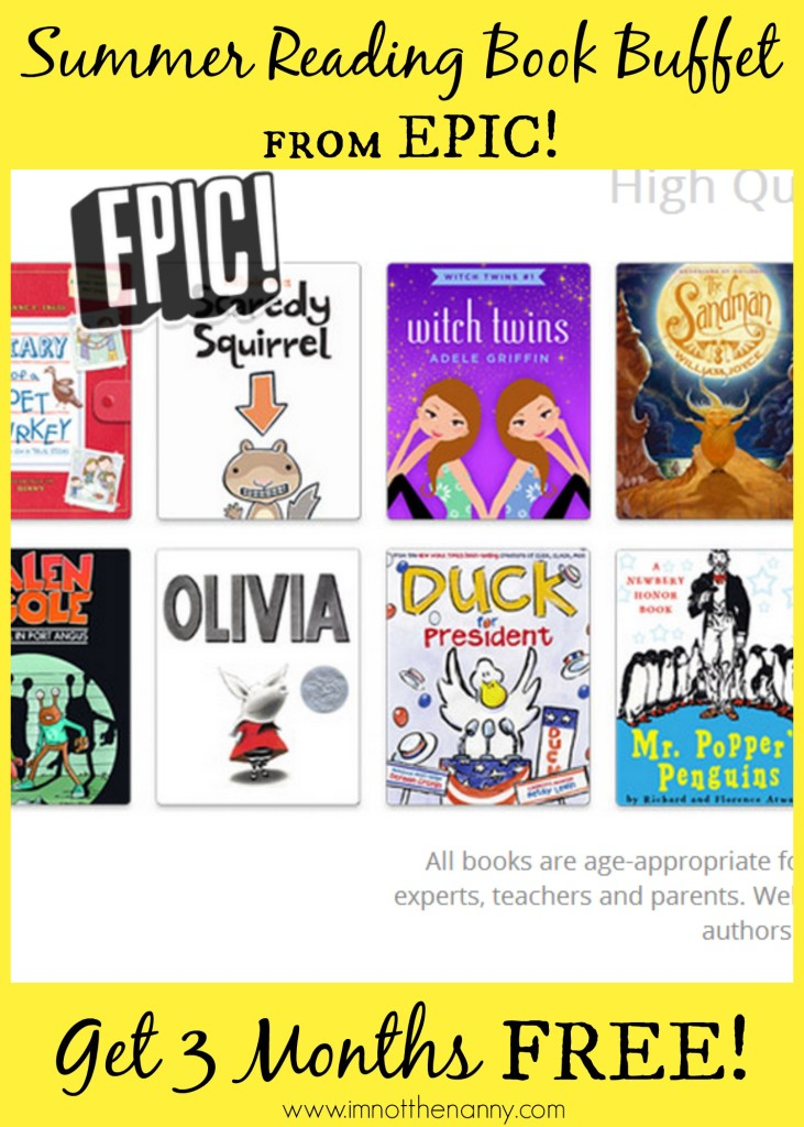 Summer Reading: Epic! Is A Book Buffet for Kids - I'm Not the Nanny