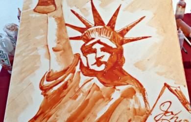 Johnny Rockets Ketchup Art at Blogger Bash NYC
