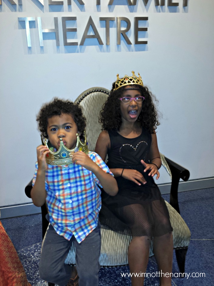 "Sophia & Jaxson with ""regal"" poses at Imagination Stage-I'm Not the Nanny"