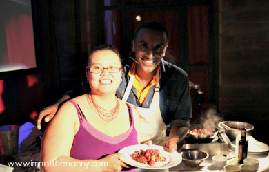 Thien-Kim cooking with Marcus Samuelsson at BlogHer 2010 NYC-I'm Not the Nanny