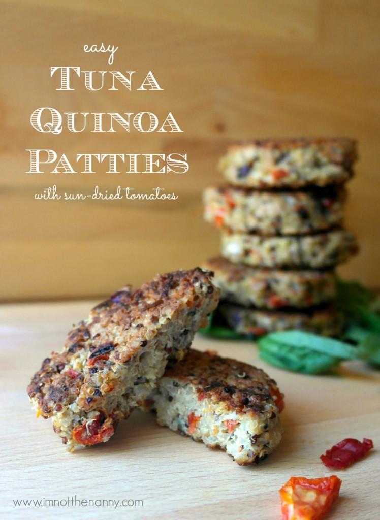 Tuna quinoa cakes recipe