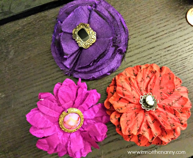 Flower Hair Clips-I'm Not the Nanny