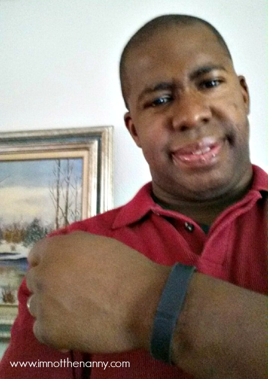 Hubby with FitBit Flex-I'm Not the Nanny