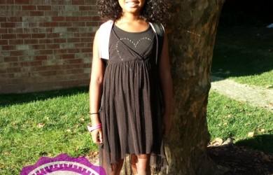 Sophia First Day of School 2014