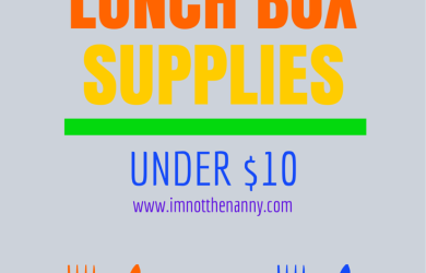 Bento Lunch Box Supplies Under $10-I'm Not the Nanny