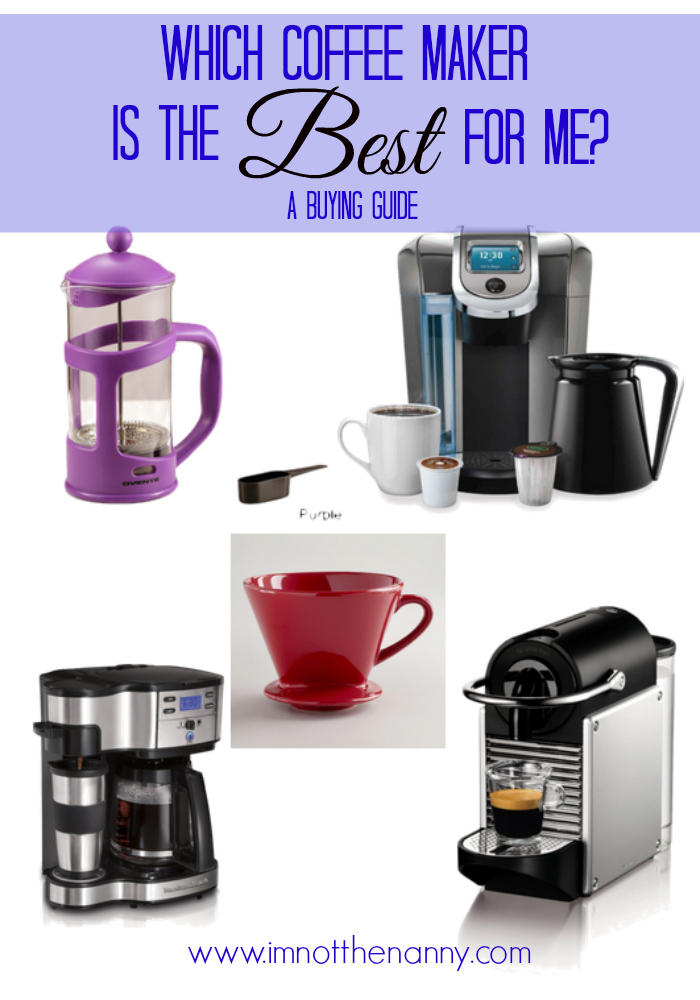 Coffee Maker Buying Guide-I'm Not the Nanny