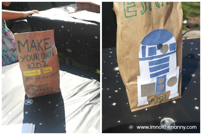 R2D2 Goodie Bag Craft Star Wars Birthday Party-I'm Not the Nanny