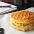 Make ahead waffle breakfast sandwich