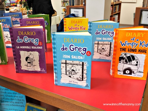 Diary of a Wimpy Kid Book Display