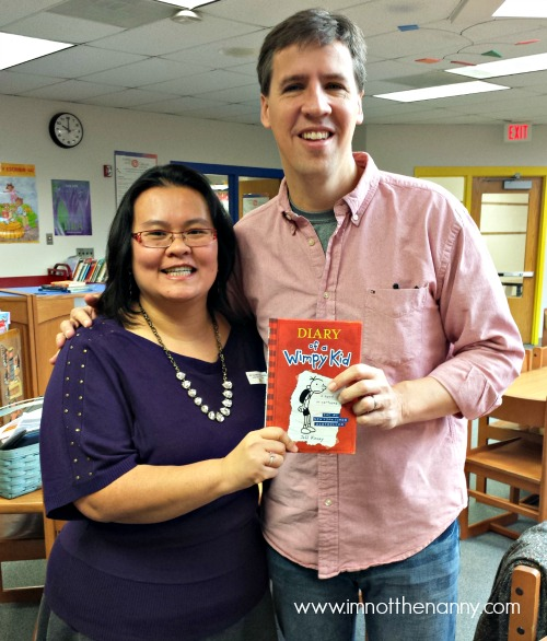 Meeting Jeff Kinney at I'm Not the Nanny