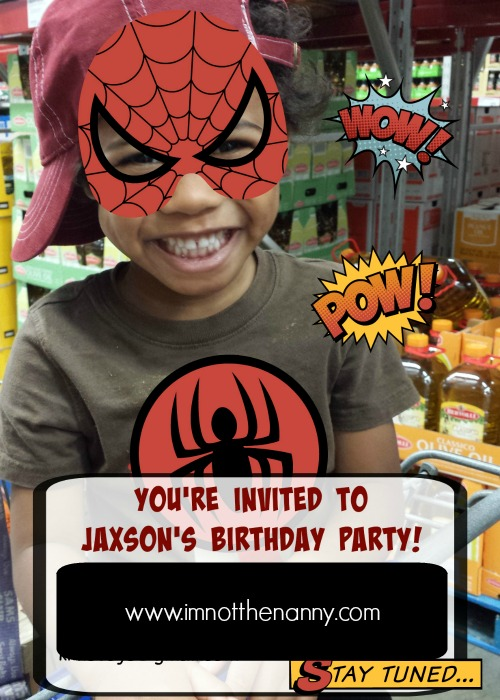 How to Plan a Spiderman birthday party (in less than a week) via I'm Not the Nanny
