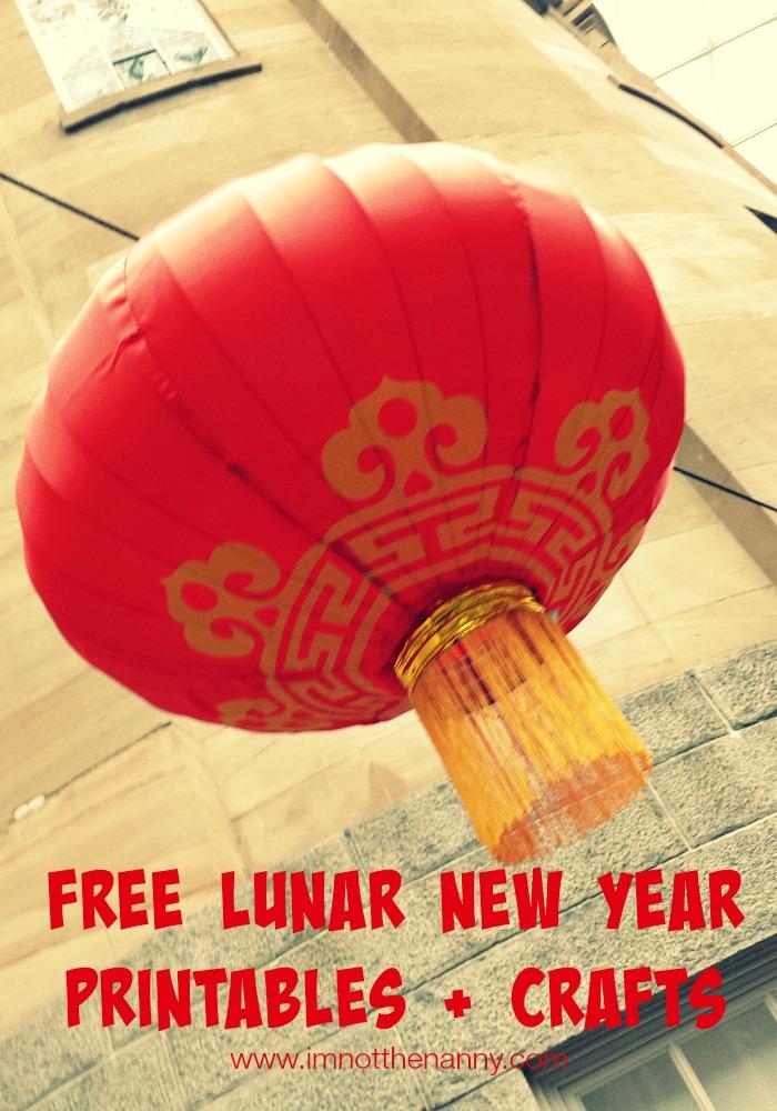 Free Lunar New Year Printables via I'm Not the Nanny