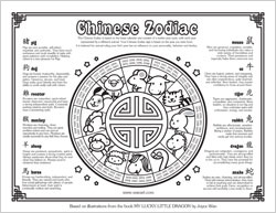 Gorgeous image with chinese zodiac printable