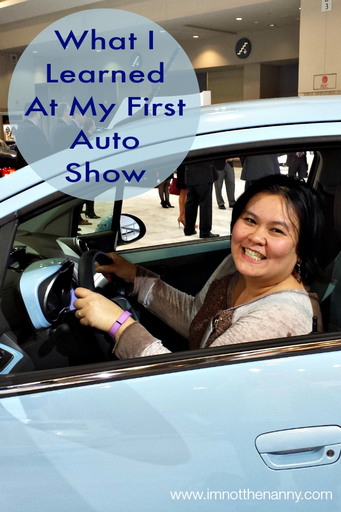 What I Learned At My First Auto Show via I'm Not the Nanny