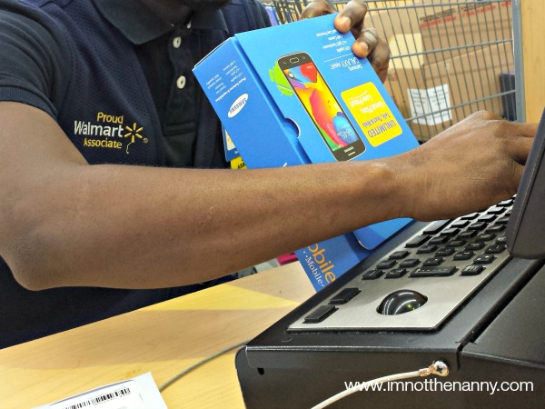 Activating Walmart Family Mobile Phone In-store via I'm Not the Nanny