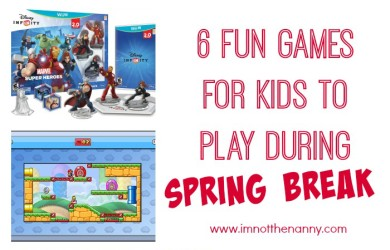 Fun Games for Kids To Play During Spring Break via I'm Not the Nanny