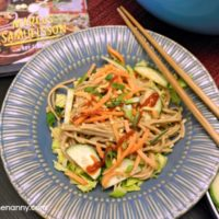 Peanut Noodles with Slaw