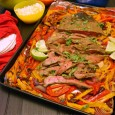 Fajita Flank Steak from Sheet Pan Suppers #WeekdaySupper via I'm Not the Nanny