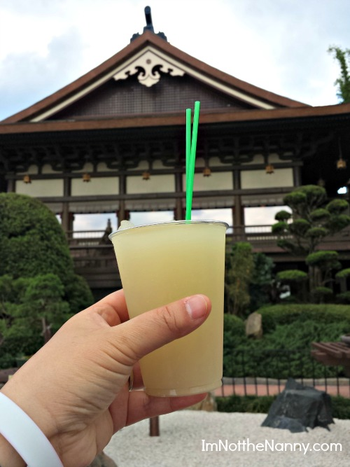 Yuzu Plum Wine Slush in Japan Epcot