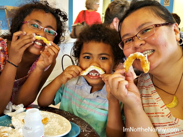 Beignet Moustaches at Coffee Call via I'm Not the Nanny