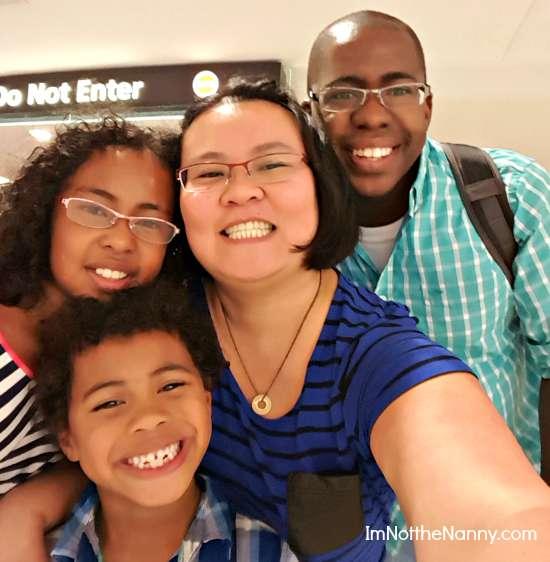 Family reunited at airport
