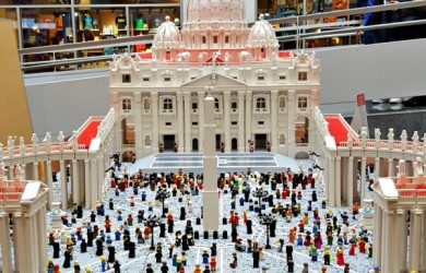 Vatican Lego replica at Franklin Institute