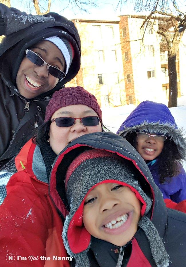 Family Snow Selfie