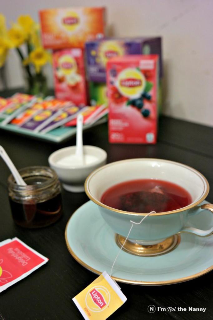 Lipton Berry Hibiscus in Fancy Tea Cups
