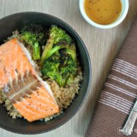 Salmon Quinoa Bowl with Orange Sesame Dressing
