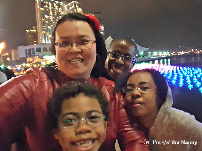 Family selfie at Light City Baltimore