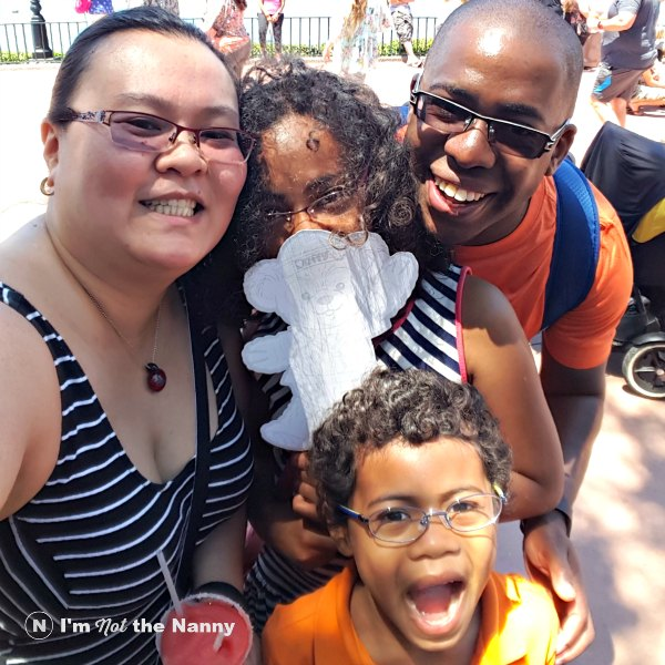 Family Selfie at Epcot