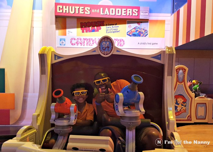 Riding Toy Story Midway Mania