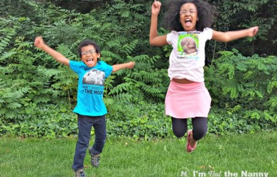 Kids Jumping in NatGeo Kids shirts