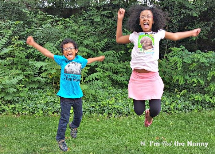Kids Jumping in NatGeo Kids shirts