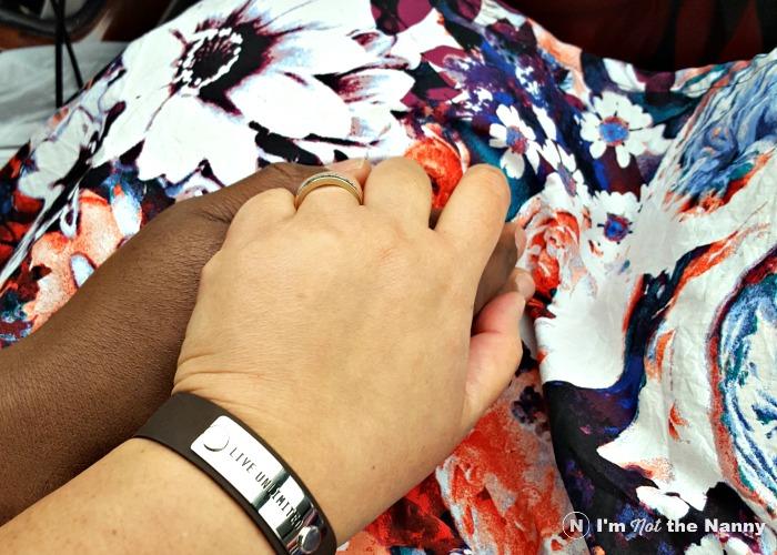 Holding my husband's hand