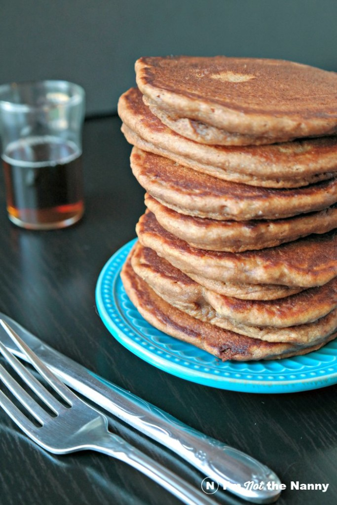 Stack of Chocolate Hazelnut Pancakes