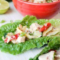 Dijon Vinaigrette Tuna Salad Lettuce Cups