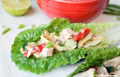 Dijon Vinaigrette Tuna Salad Lettuce Cups via I'm Not the Nanny