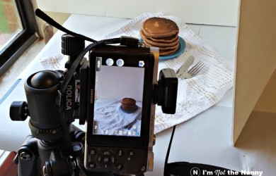Photographing pancakes