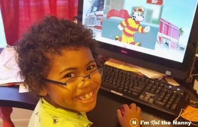 Jaxson Playing Sparky's Firehouse app