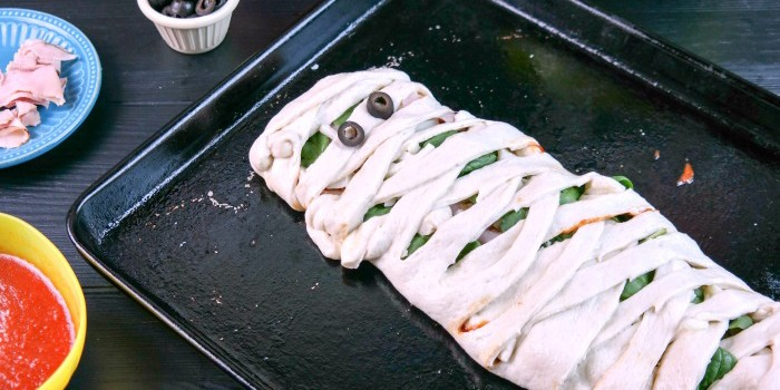 mummy calzone ready to bake