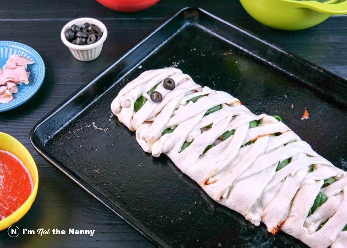 mummy calzone ready to bake