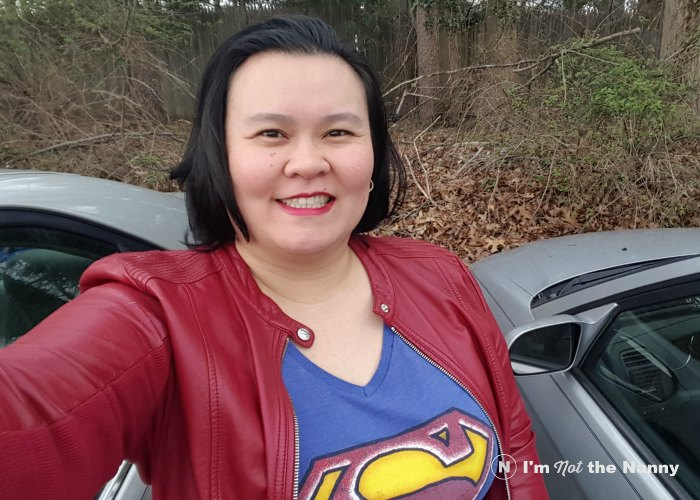 Thien-Kim in superhero shirt